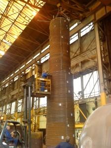 coil boiler under construction